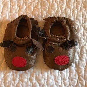 Other - NWT Baby Leather Fringe Moccasin Bootie